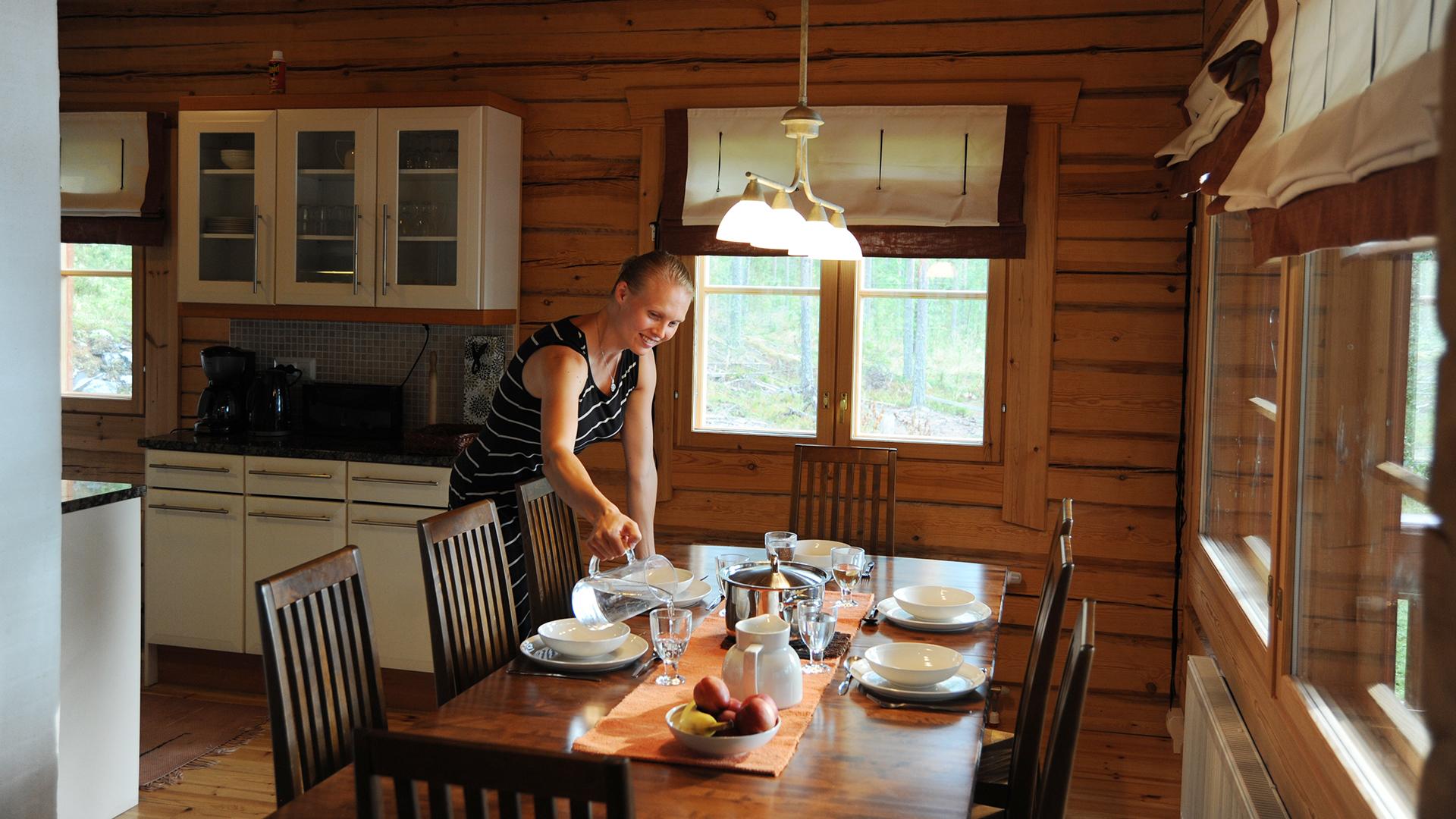 Lokkero - Das zu vermietende Ferienhaus Lokkero aus Massiv-Holz am Saimaa See in Mikkeli