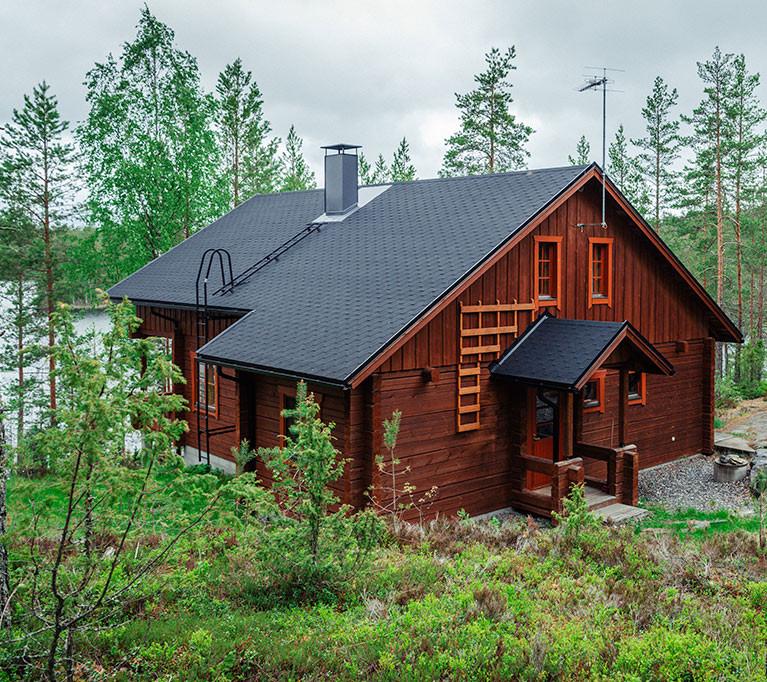 Коттедж для отдыха Lоккеро на 6 + 2 чел. Озеро Сайма, город Миккели, Финляндия
